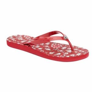 🆕Coach Abbigail Floral Rubber Sandal in Red